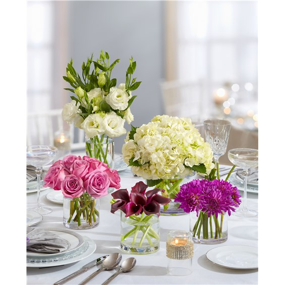 Flowers purple elegance centerpiece package a